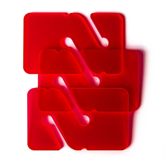 Picture of 3 REMs (Reference Exit Marker) - Transparent Red