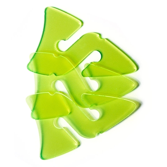 Picture of 3 Line Arrows - Transparent Green